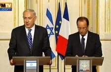 """Bibi à l'Elysée : Juifs, """"faites d'Israël, votre chez vous"""". Un affront aux juifs, un affront à la République."""