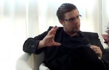 Pierre-Yves Rougeyron, lors de l'interview diffusée en direct vendredi 19 avril