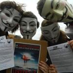 Manifestation contre L'INDECT à Paris (1er juin 2013)