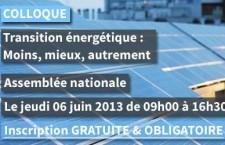Colloque sur la transition énergétique : « Moins, mieux, autrement » (6 juin 2013)