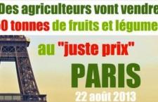 Paris : des agriculteurs vont vendre 50 tonnes de fruits et légumes au « juste prix »