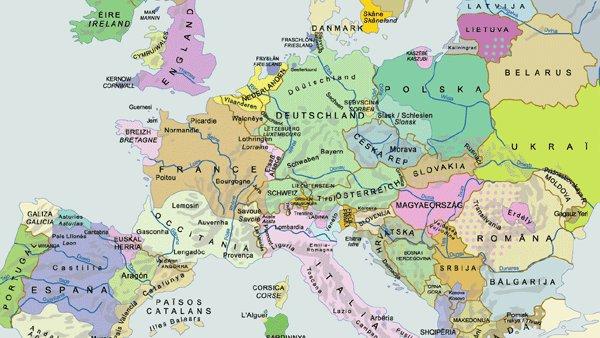 Carte De Leurope Occupee.L Europe Federale Des Euroregions Ethno Linguistiques Vers