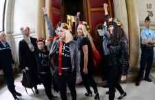 Inna Shevchenko et son avocat sioniste Patrick Klugman avant le procès Femen – 13 septembre 2013