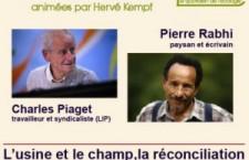1ère rencontre de Reporterre : Charles Piaget et Pierre Rabhi (10 octobre 2013)