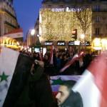 Reportage sur le rassemblement pour la Syrie et en soutien aux plaintes déposées contre Fabius