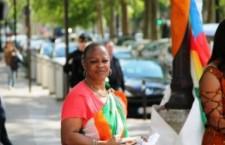 Sit-in devant l'ambassade de Côte d'Ivoire à Paris (7 août 2014)