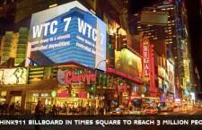 3 millions de personnes vont voir la vidéo de la chute du WTC7 à Times Square en septembre (ReOpen911)