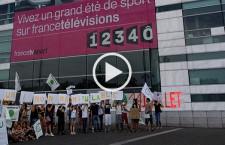 Sylvain Baron face à un responsable de France Télévision ‒ sit-in à venir