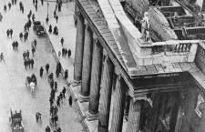 Une vue de la Poste Générale de Dublin, au début du 20ème siècle