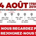 4 août 2016, marche pour la paix, la justice et la démocratie
