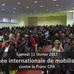 Interventions de Nicolas Agbohou et de Claudy Siar, lors de la journée de mobilisation contre le FCFA