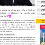 Pour Macron et Valeurs Actuelles, la Guyane est une île …