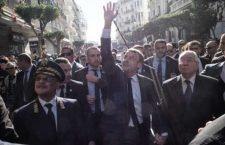 Le Président de la République Emmanuel Macron, déambule dans une rue d'Alger, le 6 décembre 2017, lors de sa première visite en Algérie en tant que chef d'Etat.