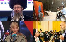 De gauche à droite et de haut en bas : le rabbin Dovid Weiss, le journaliste Pepe Escobar, l'écrivaine Alison Weir et le géopoliticien Alexandre Douguine