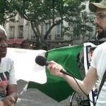 Manifestation de soutien au peuple ivoirien, entretien avec Dominique Guede