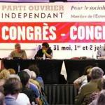 Meeting de clôture du 4ème Congrès national du Parti Ouvrier Indépendant