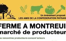 Ferme à Montreuil : Marché Paysan, rencontres producteurs / consommateurs (12 octobre 2013)