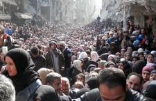 Rassemblement en solidarité avec les palestiniens du Camp Yarmouk (17 avril 2015)
