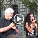 Manifestation contre les massacres de dauphins – entretien avec Lamya Essemlali, de Sea Shepherd