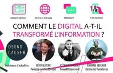 Conférence : « Comment le digital a-t-il transformé l'information ? » (mercredi 8 juin)