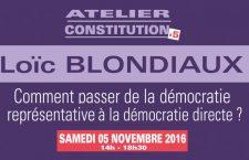 Conférence de Loïc Blondiaux: «Comment passer de la démocratie représentative à la démocratie réelle?» (samedi 5 novembre)