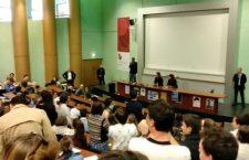Mobilisation d'étudiants de Sciences Po Rennes contre la venuedans leur école deMme Aliza Bin Noun, ambassadrice d'Israël
