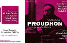 Colloque : « Proudhon – L'anarchie sans le désordre » (samedi 20 mai)