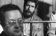 Georges Ibrahim Abdallah et, au premier plan, son premier avocat Maître Vergès