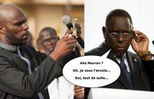 Kemi Seba et le président sénégalais Maky Sall (montage photo satirique)