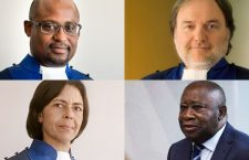 De gauche à droite et de haut en bas : Geoffrey A. Henderson, Cuno Tarfusser, Olga Herrera-Carbucci et Laurent Gbagbo