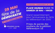 Grande manifestation publique à l'occasion du 16ème anniversaire du NON au référendum de 2005